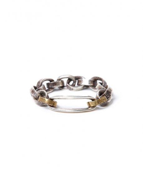 HOBO / 925 SILVER CHAIN RING WITH BRASS
