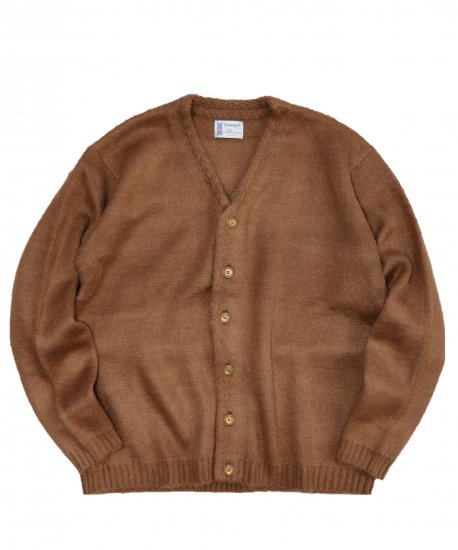 TOWNCRAFT/SOLID JAQUARD 70'S CARDIGAN