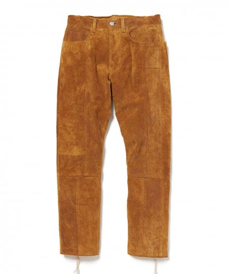 YSTRDY'S TMRRW / COW SUEDE MIX PANEL PANTS