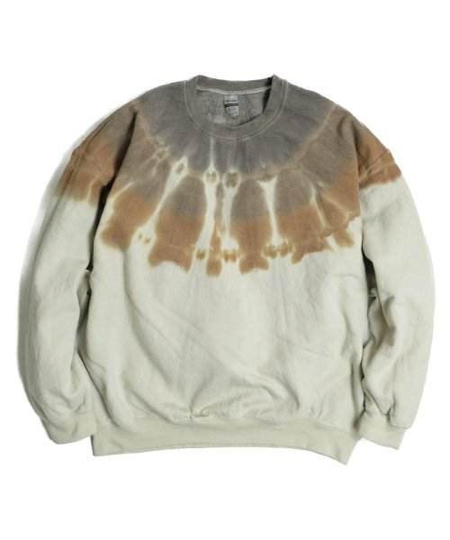 RE CONSTRUCT / 3TONE DYE GILDAN CREW SWEAT