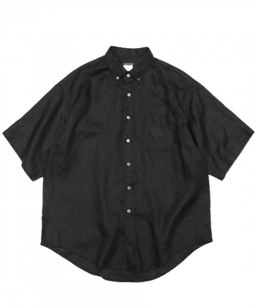 SUNNY SPORTS / 90S BUTTON DOWN SS SHIRTS LINEN