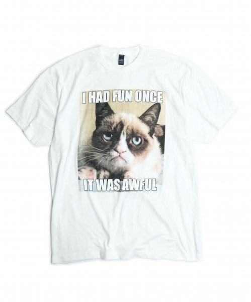THRIFTY LOOK  / 'GRUMPY CAT'PRINT TEE