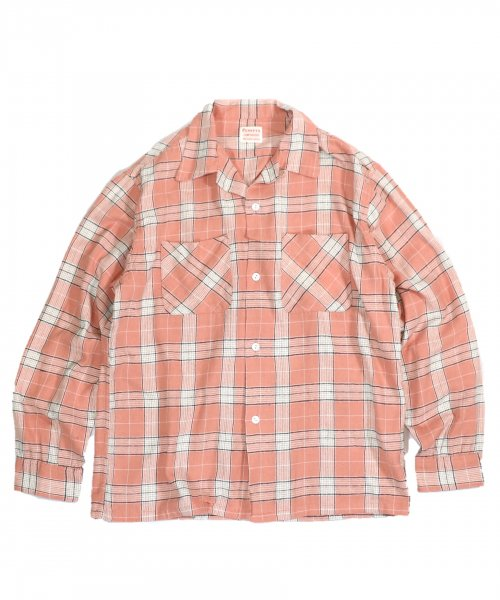 PENNEY'S / 60S CHECK OPEN SHIRTS