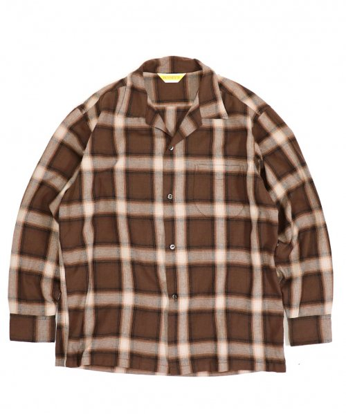 PENNEY'S / OMBRE CHECK OPEN SHIRTS