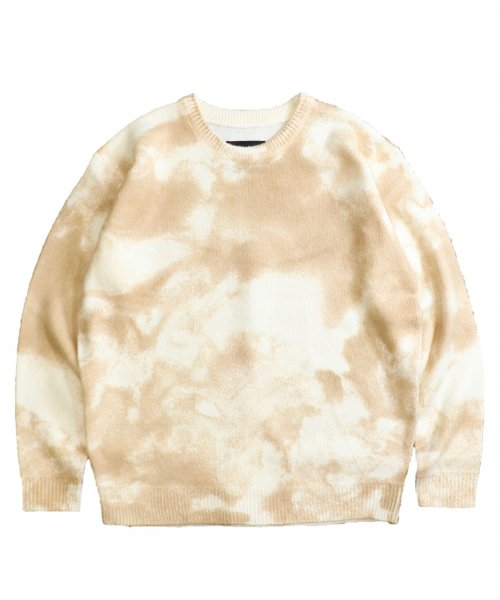 TOWNCRAFT /  TIE-DYE CREW-NECK SWEATER