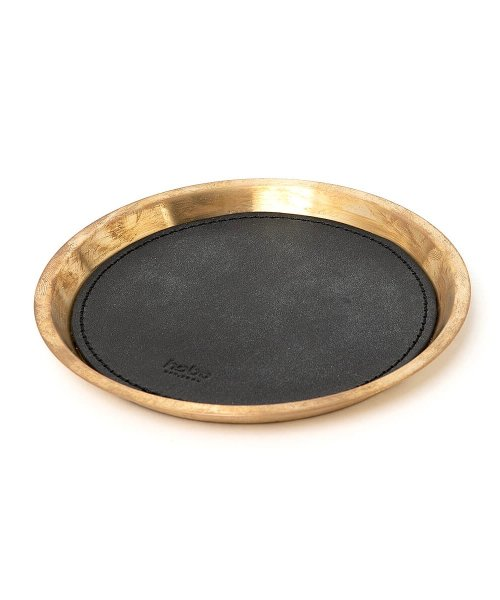 HOBO / BRASS TRAY SMALL with OILED COW LEATHER