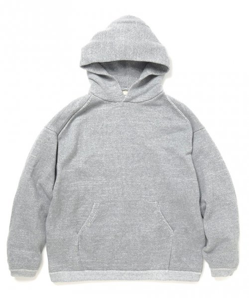 YSTRDY'S TMRRW / BAGGY HOODIE COTTON PLATING KNIT
