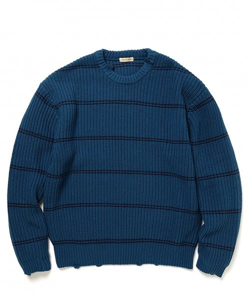 YSTRDY'S TMRRW / PHAT SWEATER C/A BORDER RIB KNIT