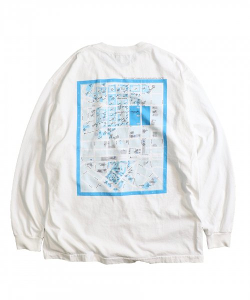 SUNNY SPORTS /  YALE CAMPUS MAP LS TEE