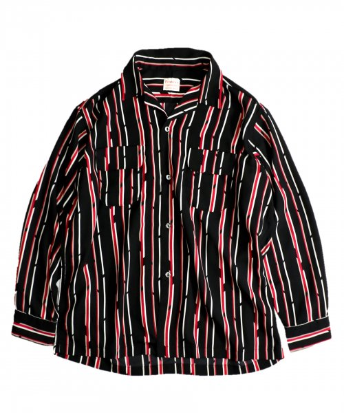 PENNEY'S / STRIPE PRINTED W-P LS SHIRTS