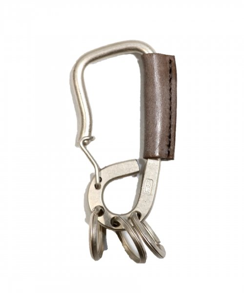 HOBO /BRASS CARABINER KEY RING with OILED COW LEATHER