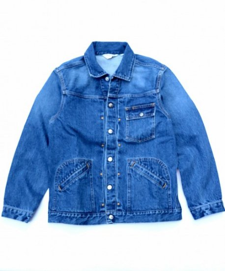TOWN CRAFT/PLEATS WESTERN JACKET DENIM USED