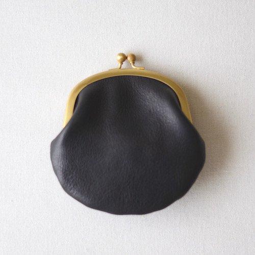 tochigi leather gamaguchi M Black