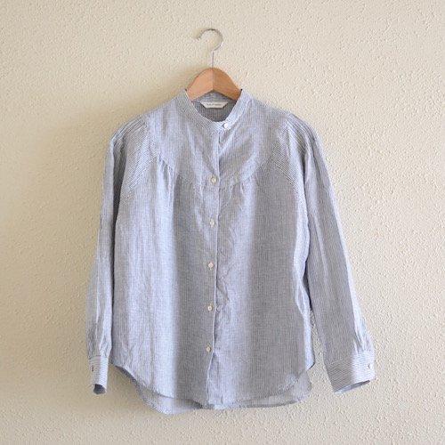 スタンドラウンドヨークシャツ