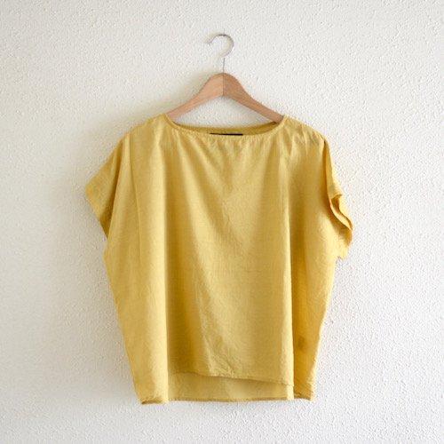 コットンカディプルオーバー Yellow