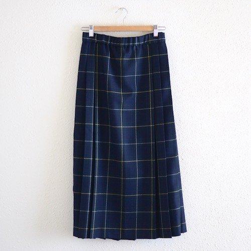 サイドプリーツスカート Navy×Green