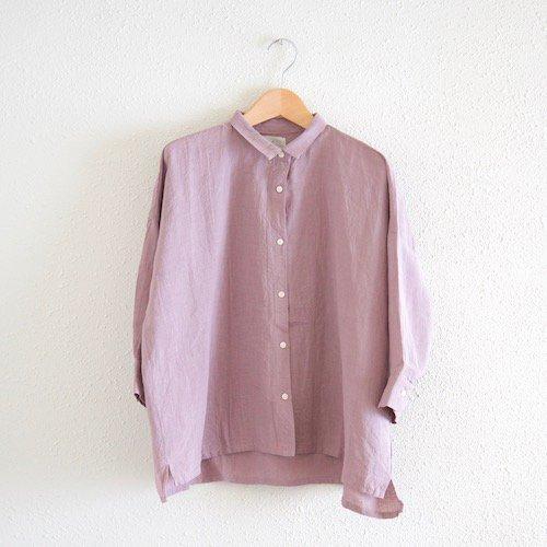 ベルギーリネンビッグシャツ Pink