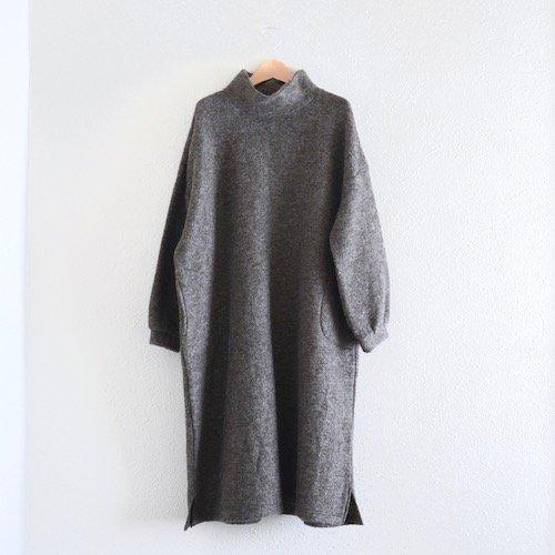 モヘアタートルワンピースドレス Gray