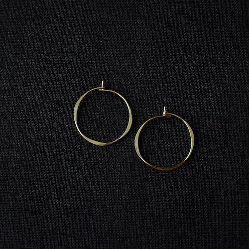 ピアス Round Hoop 14K Gold