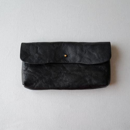 tochigi leather long wallet Black