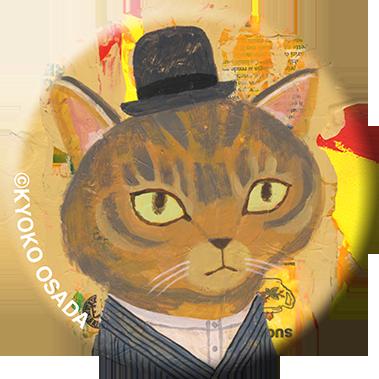 miniportrait Badge 書生の猫