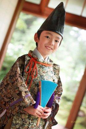 時代衣装水干 5歳~7歳用 −西陣織−