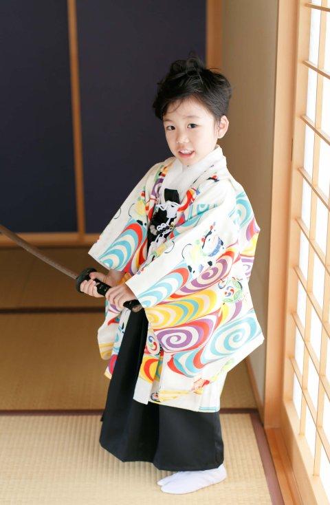 狛犬着物&袴セット 5歳