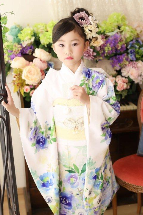 7歳七五三レンタル アネモネ   薄桜