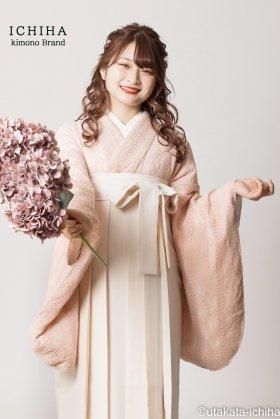 総レース卒業袴レンタル くすみピンク フルセット