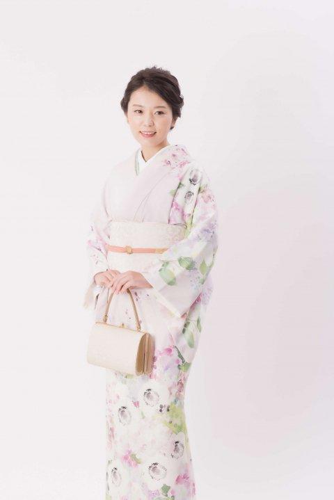 レンタル訪問着 - アネモネ - 桜色