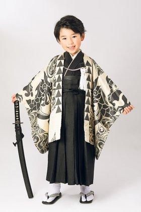 絵羽桐生織着物&袴セット 5歳