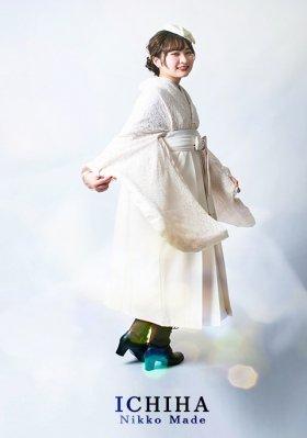 【再入荷】白総レース卒業袴レンタル フルセット オフ白 レギュラーサイズ
