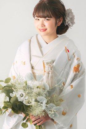 花嫁衣裳 白無垢 白鶴金糸刺繍婚礼衣装 フルセットレンタル 婚礼和装前撮