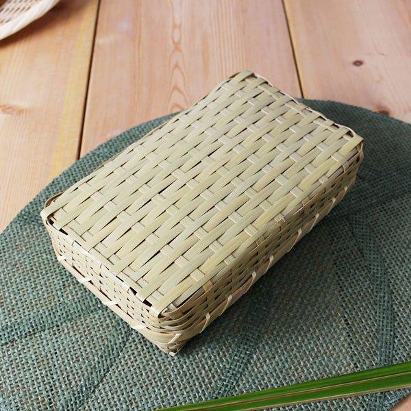 青竹ゴザ目弁当箱/ランチボックス/激安 廉価版/通気性良く蒸れにくい/ピクニック