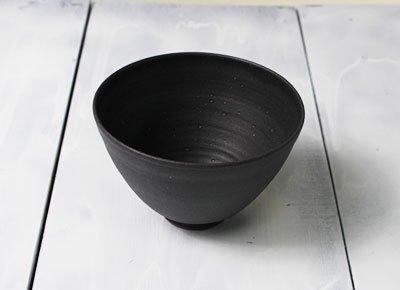 お茶碗(Simple1(スミ色/黒)/大サイズ)/ご飯茶碗の大盛サイズ/軽量陶器