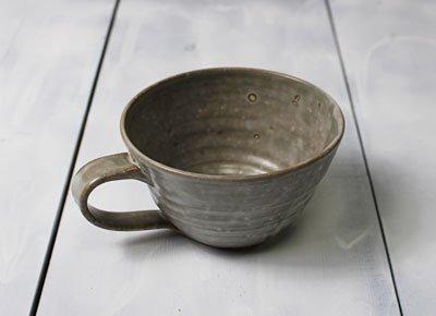 「おしゃれなスープカップ<simple1>(グレー・灰色)」/ボタージュ/ミネストローネ/温かいスープの器