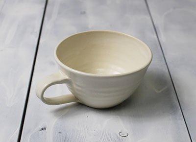 「おしゃれなスープカップ<simple1>(白・ホワイトマット調)」ボタージュ/ミネストローネ/温かいスープの器
