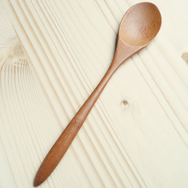 持ち手が厚手のカレースプーン/竹製 国産 日本/熱伝導なく柔らかい口当たり