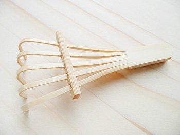 箸置き 竹 手作り/熊手箸置き(竹製) 箸休め テーブルウエア