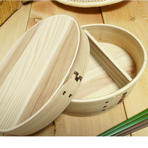 杉わっぱ弁当箱(大サイズ)/通気性 軽量 安くて人気のわっぱ/70A5512