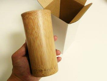 プレゼント/お祝い贈り物用/スス竹ビアマグ/軽くて丈夫なアウトドア用/冷たい飲み物専用