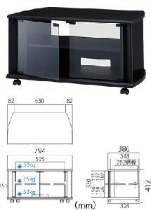 【送料無料】HAYAMIハヤミTIMEZ  『TV-BS80H』  26v〜32v型対応テレビ台【横幅794mm高さ412mm】【配送A】