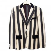 【30%OFF】REVERBERATE リバーバレイト Object Stripe Jacket ブラック