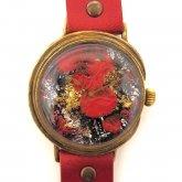 アート文字盤 腕時計「情熱 passion」書家 Shingo Nozao 野竿 進悟×A STORY TOKYO LL-37mm