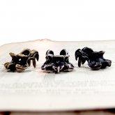 烏堂 カラスの第一頚骨 イヤーカフ ( 真鍮/黒×銀 SV925/黒燻し SV925)