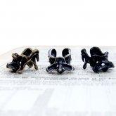 【ラスト1点】烏堂 カラスの第二脛骨 イヤーカフ ( 真鍮/黒×銀 SV925/黒燻し SV925)