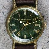アンティークな腕時計 Classic Wristwatch 樹海 緑文字盤