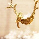 cocoon コクーン bird nest 幸せの青い鳥 卵と巣 ネックレス 真鍮