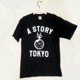 A STORY オリジナル Tシャツ 時計 ロゴ 懐中時計 メンズ