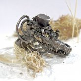 memini メミニー クロコダイル リング HATver. silver925